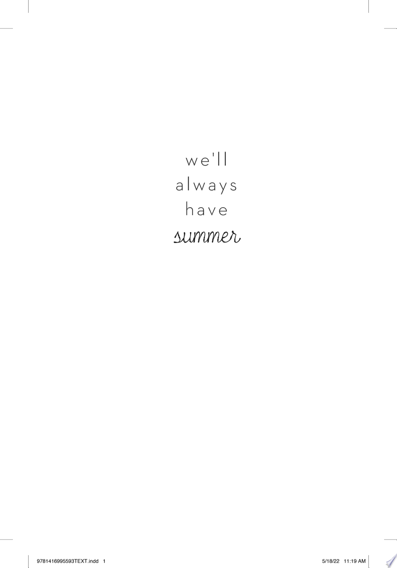 We'll Always Have Summer image