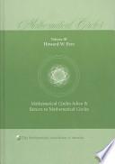 Mathematical Circles: Volume 3, Mathematical Circles Adieu, Return to Mathematical Circles