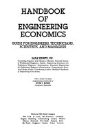 Handbook of engineering economics