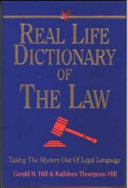 Real Life Dictionary of the Law