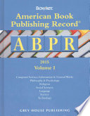 American Book Publishing Record Annual - 2 Vol Set, 2015