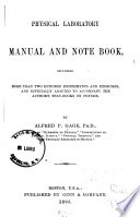 Physical Laboratory Manual and Notebook