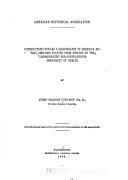 Contributions Toward a Bibliography of American History  1888 1892