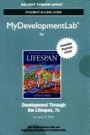 Development Through the Lifespan MyDevelopmentLab With Pearson Etext Access Code