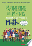 Partnering With Parents in Elementary School Math Book