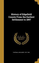 HIST OF EDGEFIELD COUNTY FROM