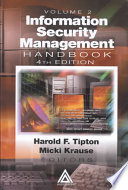 Information Security Management Handbook  Fourth Edition Book