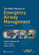 Pdf The Walls Manual of Emergency Airway Management Telecharger