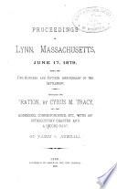 Proceedings In Lynn Massachusetts June 17 1879