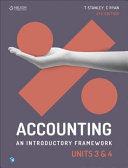 Cover of Accounting: an Introductory Framework Units 3 & 4
