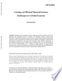 Creating an Efficient Financial System