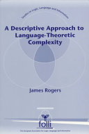A Descriptive Approach to Language-Theoretic Complexity