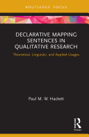 Declarative Mapping Sentences in Qualitative Research