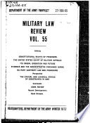 Military Law Review Vol  55 Book