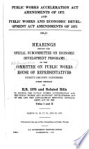 Public Works Acceleration Act Amendments of 1971 and Public Works and Economic Development Act Amendments of 1971
