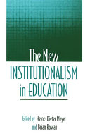 New Institutionalism in Education, The