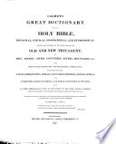 Calmet's Great Dictionary of the Holy Bible