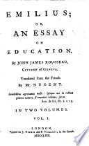 Emilius; Or, an Essay on Education