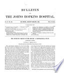 Bulletin of the Johns Hopkins Hospital