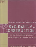 Architectural Graphic Standards for Residential Construction Book PDF