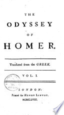 The Odyssey of Homer Book