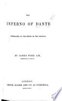 The Inferno Of Dante Translated In The Metre Of The Original By James Ford Book PDF