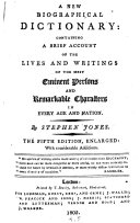 A New Biographical Dictionary ebook