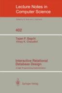 Interactive Relational Database Design Book
