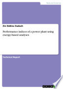 Performance indices of a power plant using exergy-based analyses