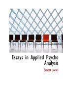 Essays in Applied Psycho Analysis Book