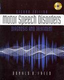 Motor Speech Disorders  Diagnosis   Treatment Book