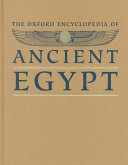 The Oxford Encyclopedia Of Ancient Egypt P Z