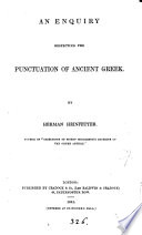 An enquiry respecting the punctuation of ancient Greek, by Herman Heinfetter by Frederick Parker PDF