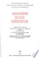 Memorias de los egresados