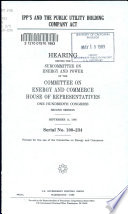 IPP s and the Public Utility Holding Company Act Book