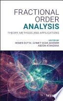 Fractional Order Analysis Book