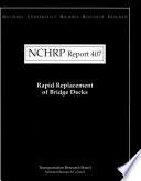 Rapid Replacement of Bridge Decks