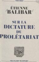 Sur la dictature du prolétariat Pdf/ePub eBook