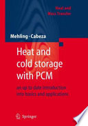 Heat and cold storage with PCM Book