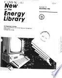 New at the Energy Library Book