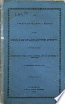 Annual Report Of The American Colonization Society