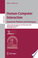 Human Computer Interaction  Interaction Platforms and Techniques Book