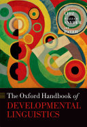 The Oxford Handbook of Developmental Linguistics Pdf/ePub eBook