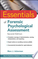 """""""Essentials of Forensic Psychological Assessment"""" by Marc J. Ackerman"""