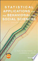 Statistical Applications for the Behavioral and Social Sciences Book