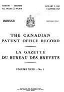 The Canadian Patent Office Record Book