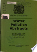 Water Pollution Abstracts