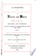 Catalogue Of Upwards Of Fifty Thousand Volumes On Sale