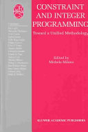 Constraint and Integer Programming