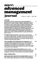 Advanced Management Journal